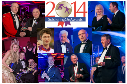 Soldiering On, Awards 2014, John Marham, Jerome Chruch, Steve Brooks, Kizzie, Jon-Allan Butterworth, Sarah Adams, Franco Gasparotti, Dean Morris, Tony Stables, Charles Clarke